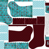 Prancer Christmas Stocking pattern