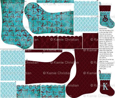 Prancer Christmas Stocking pattern