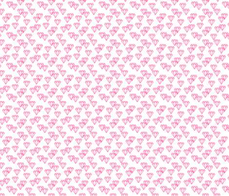 Diamond repeat pink fabric by happyplushplush on Spoonflower - custom fabric