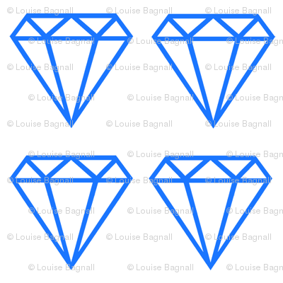 Diamond large blue