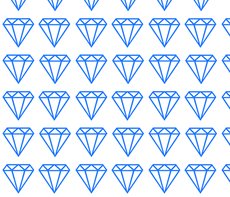 Diamond large blue fabric by happyplushplush on Spoonflower - custom fabric