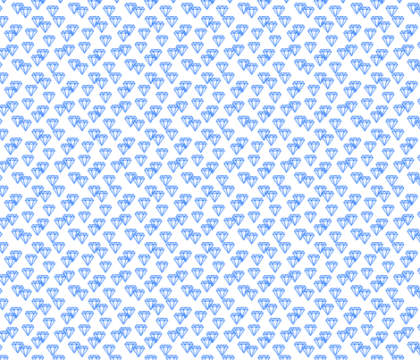 Diamond repeat blue fabric by happyplushplush on Spoonflower - custom fabric
