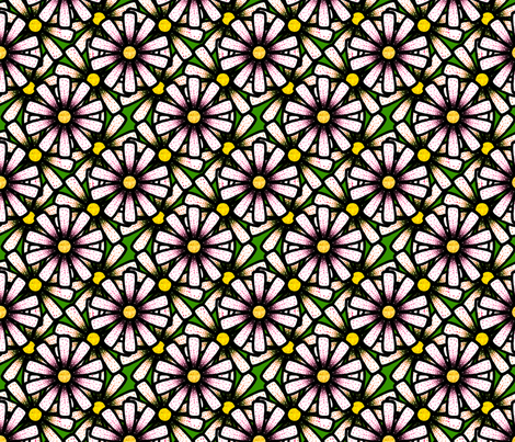 Spotted Daisies fabric by siya on Spoonflower - custom fabric