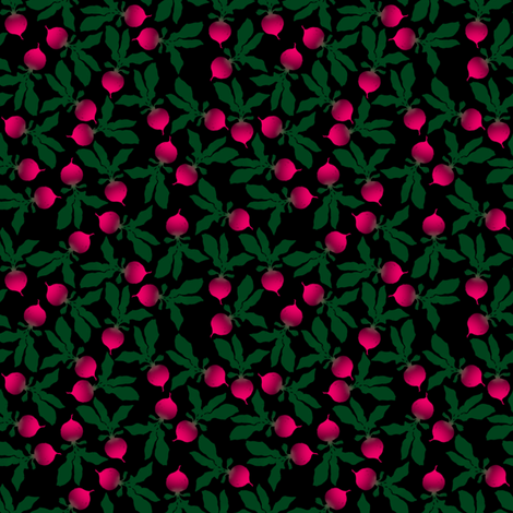 Radishes fabric by siya on Spoonflower - custom fabric