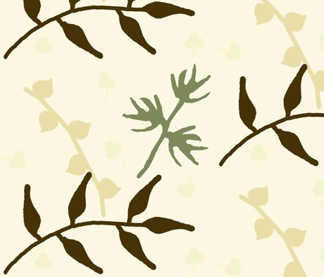 Layered Leaves fabric by winter on Spoonflower - custom fabric