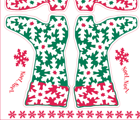 snowflakestocking fabric by cattails on Spoonflower - custom fabric