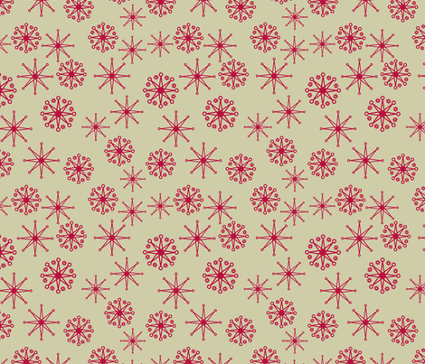 red stars  fabric by suziedesign on Spoonflower - custom fabric