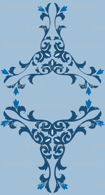 Chinese vines blue mirror