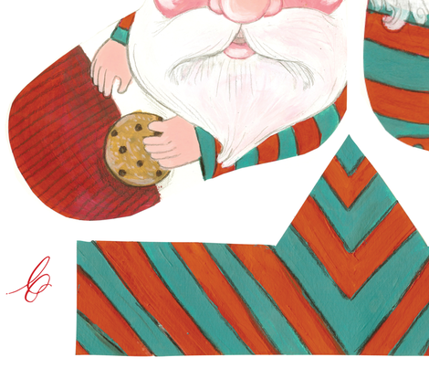 Tucked in at the North Pole Stocking Kit fabric by asilo on Spoonflower - custom fabric
