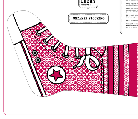 Happy Sew Lucky Sneaker stocking
