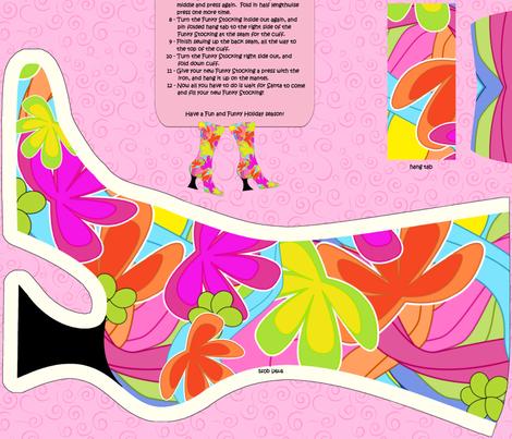 Funky Stocking fabric by debbiek on Spoonflower - custom fabric
