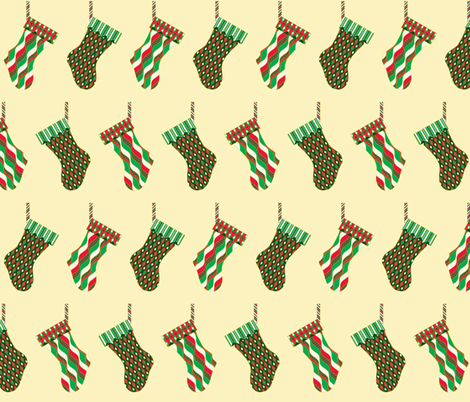 Stocking Parade - Jingle fabric by inscribed_here on Spoonflower - custom fabric