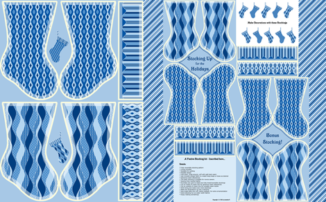 Stocking Up for the Holidays - Winter Blues fabric by inscribed_here on Spoonflower - custom fabric