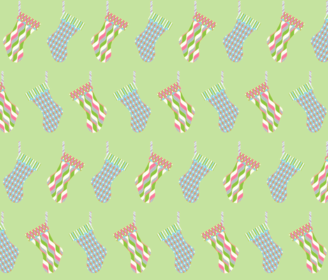 Stocking Parade - Baby fabric by inscribed_here on Spoonflower - custom fabric