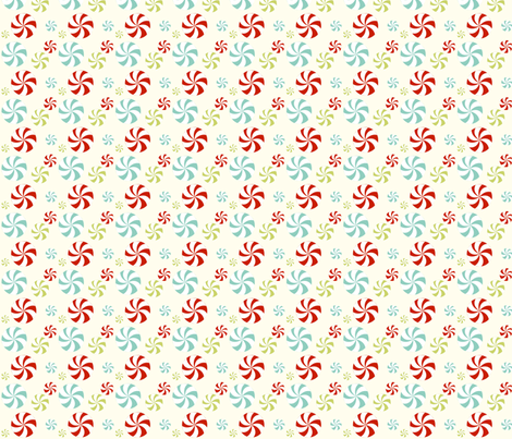 peppermint swirls fabric by mytinystar on Spoonflower - custom fabric