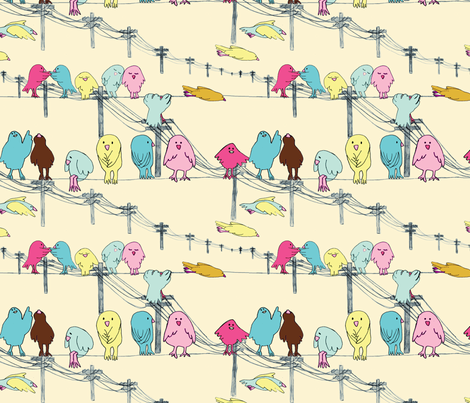 love doves pastel fabric by marinamolares on Spoonflower - custom fabric