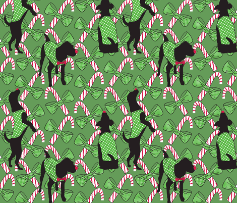Red-nosed Doggy fabric by majobv on Spoonflower - custom fabric