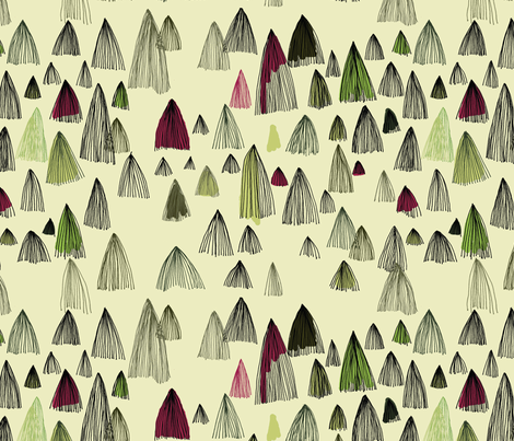 long hair forest fabric by marinamolares on Spoonflower - custom fabric