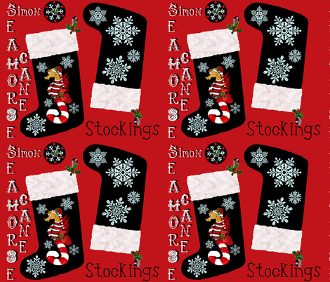 """Simon"" snowflake stockings fabric by paragonstudios on Spoonflower - custom fabric"