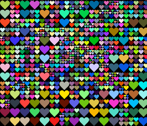 HEARTS_OF_GRID_COLOR fabric by ebecho on Spoonflower - custom fabric