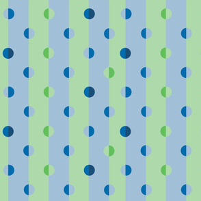 polka dot stripes in blue-green