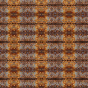 rust and gold kilim
