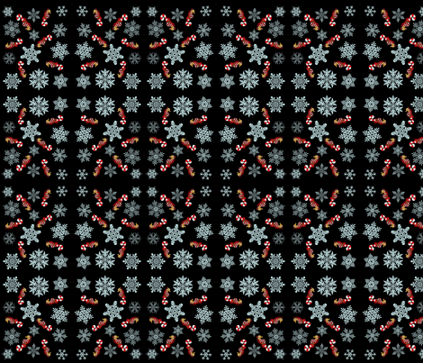 simon snowflakes fabric by paragonstudios on Spoonflower - custom fabric