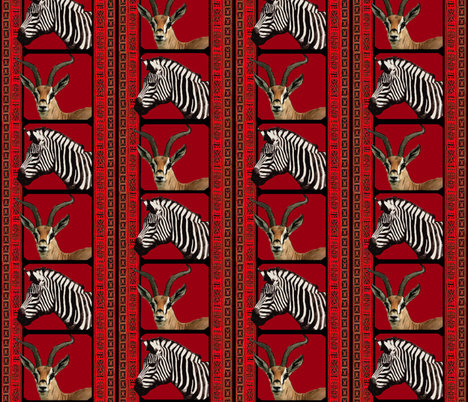 African Savanah  fabric by hauteideas on Spoonflower - custom fabric