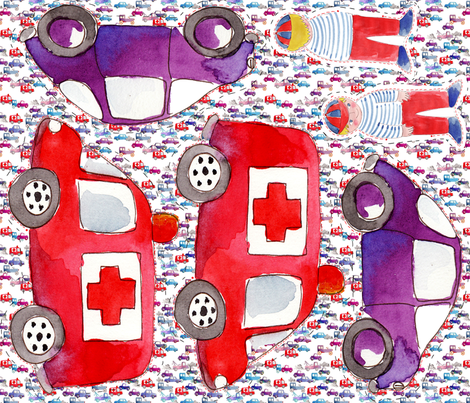 doudou_voiture_v5 fabric by nadja_petremand on Spoonflower - custom fabric