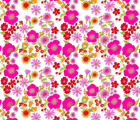 douce_fleur_rose fabric by nadja_petremand on Spoonflower - custom fabric