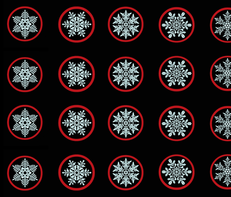 Snowflake jam jar lid covers fabric by paragonstudios on Spoonflower - custom fabric