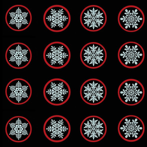 Snowflake jam jar lid covers