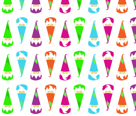 Gnome Parade fabric by mochistudios on Spoonflower - custom fabric