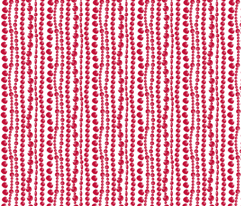 RED BEADS fabric by newmomdesigns on Spoonflower - custom fabric
