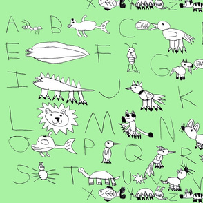 Animal Alphabet Lt Green