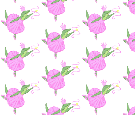 Crocodile Ballet fabric by erin_k on Spoonflower - custom fabric