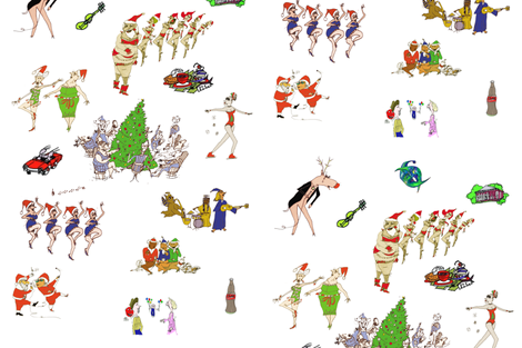xmas2010 fabric by charlieread on Spoonflower - custom fabric