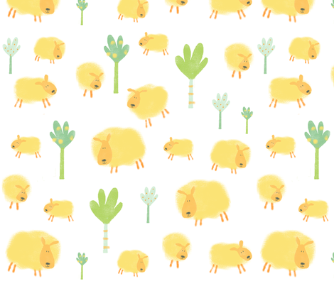 Sheep fabric by redfish on Spoonflower - custom fabric