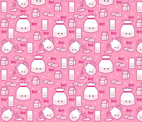 Strawberry Milk Craze fabric by beii on Spoonflower - custom fabric