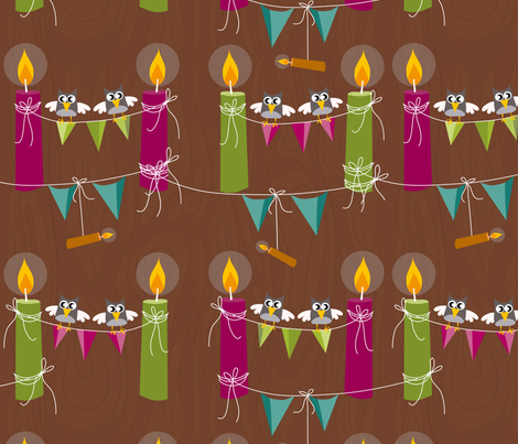 Birthday Candles fabric by mk-designs on Spoonflower - custom fabric