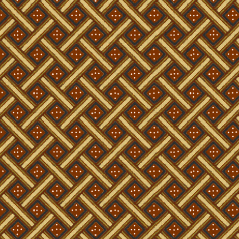 African Weave ('Redware') fabric by hauteideas on Spoonflower - custom fabric