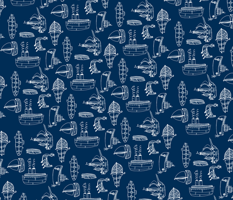 boatsfabric_copy fabric by 1canoe2 on Spoonflower - custom fabric