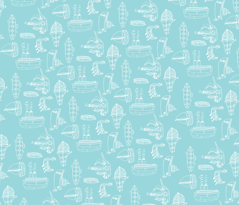 boatsfabric3 fabric by 1canoe2 on Spoonflower - custom fabric