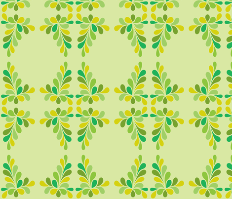 Green Swirl Frame fabric by carinaenvoldsenharris on Spoonflower - custom fabric