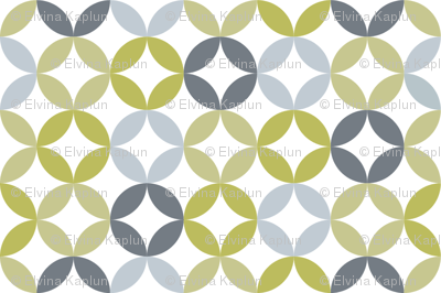 Soft Circles - Blue Grey