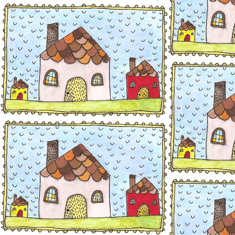 Les Maisons fabric by yoursecretadmiral on Spoonflower - custom fabric