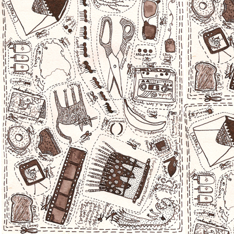 A Collection fabric by yoursecretadmiral on Spoonflower - custom fabric