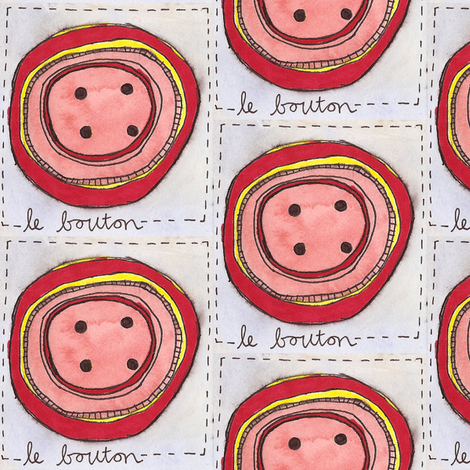 Les Boutons fabric by yoursecretadmiral on Spoonflower - custom fabric