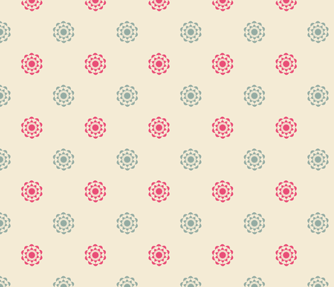 pink and blue flowers fabric by suziedesign on Spoonflower - custom fabric