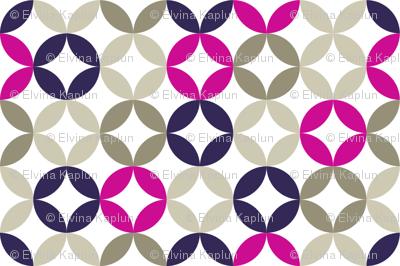 Soft circles - magenta